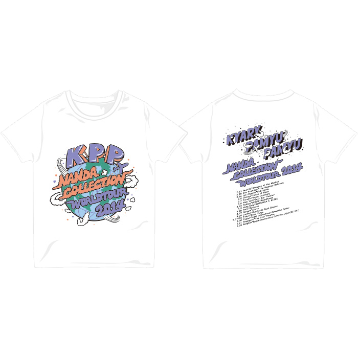 【WORLD TOUR2014 Limited】WT14-001<br>NANDACOLLE-T WHITE(XS、S、M、L)