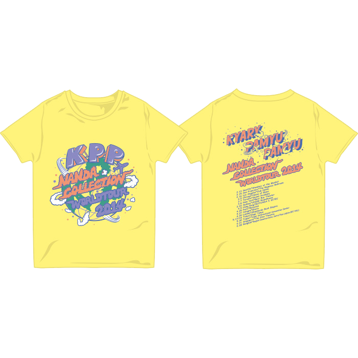 【WORLD TOUR2014 Limited】WT14-005<br>NANDACOLLE-T YELLOW(XS、S、M、L)