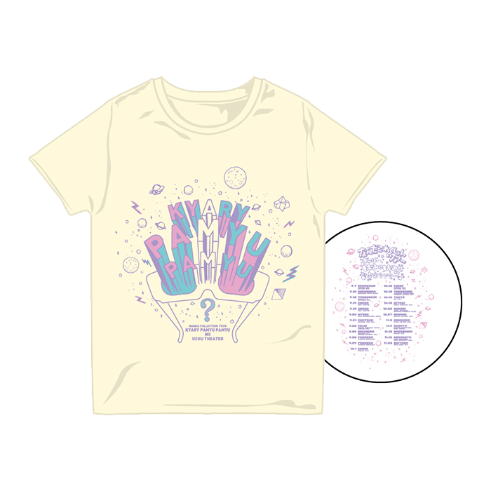 【Nanda Collection Tour】NCT-003<br>Uchu Theater T-shirt Custard(XS、S、M、L)