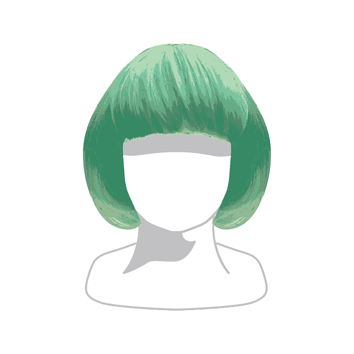【Narikiri KPP Kids】NKK-007<br>Narikiri KPP Kids WIG Green