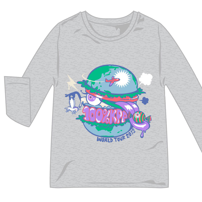 【WORLD TOUR2013 MERCHANDISE】WH-001<br>KPP WORLD BURGUER Long-T(S , M , L)
