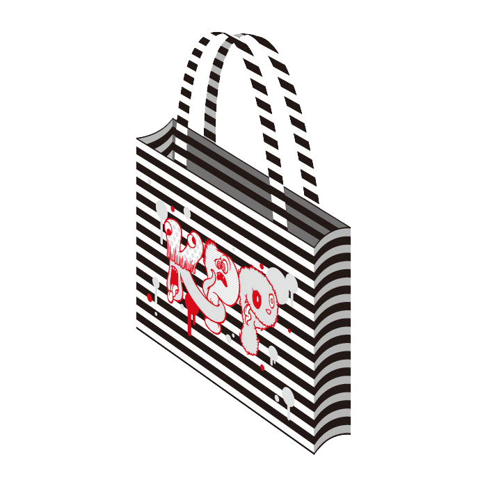 【Monster MERCHANDISE】FM-005<br>KPP Monster Tote Bag RED×SILVER(limited Color)