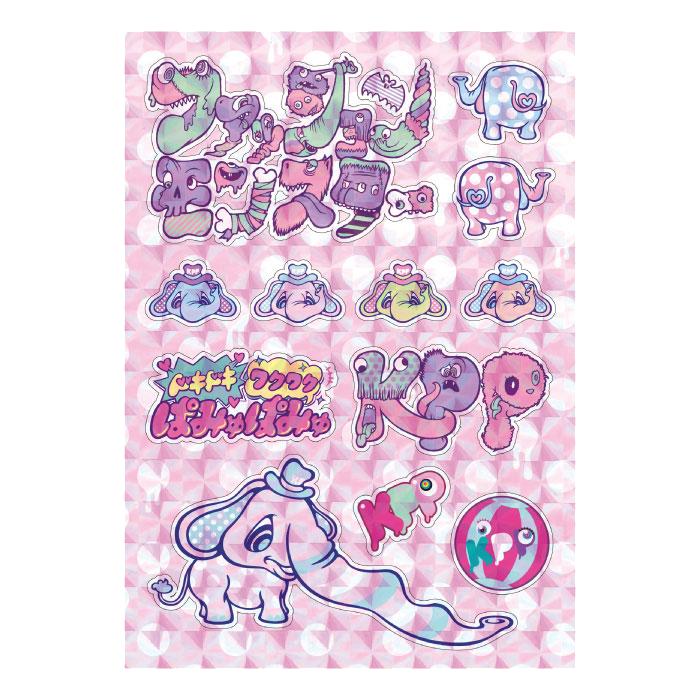【Doki Doki Waku Waku Merchandise】DW-002<br>Sparkle Stickers (A4 Size)