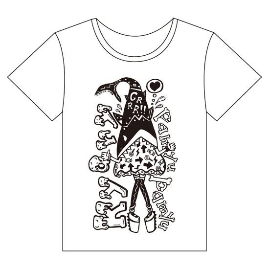 【Monochrome design】KM-001<br>T-shirt 「Shark Kyary」(S , M , L)