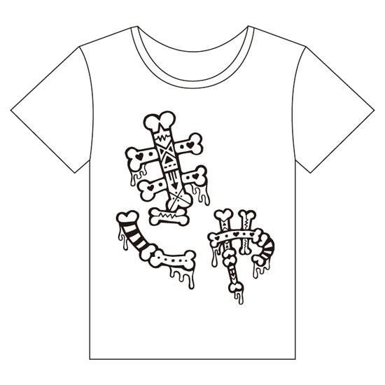 【Monochrome design】KM-002<br>T-shirt 「Kya!」(S , M , L)