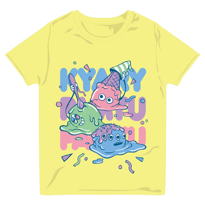【2013 Summerアイテム】13SU-002<br/>MELTY ICE Tシャツ YELLOW(XS、S、M、L)<br/>