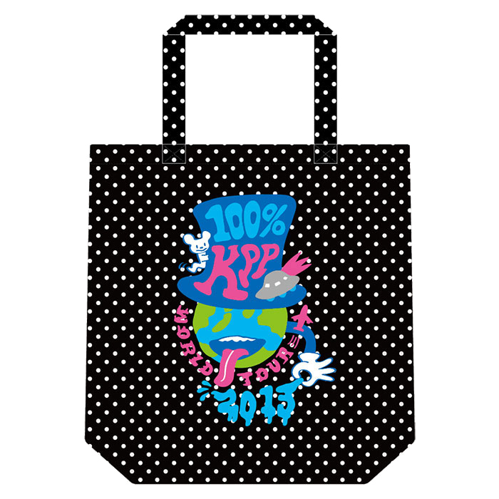 【WORLD TOUR2013アイテム】WT13-008<br/>100%KPP WORLD-Tote Bag(38×37×10cm)