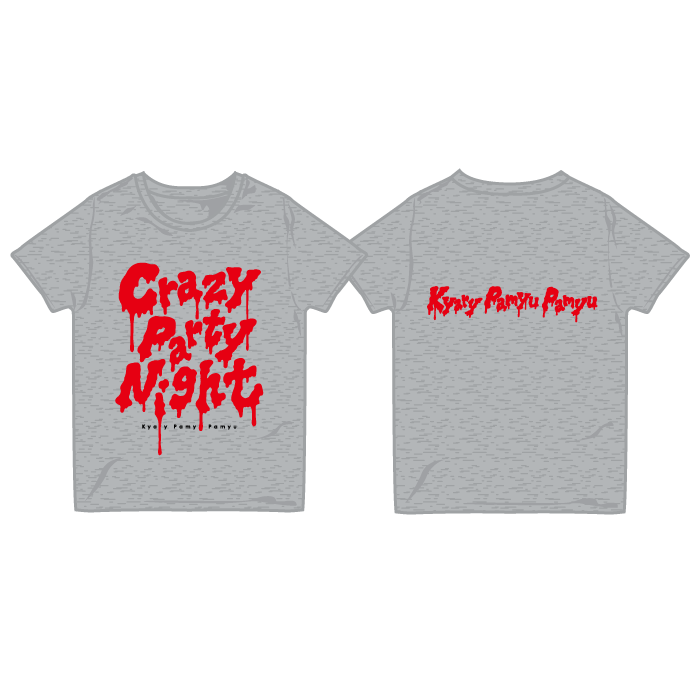 【CRAZY PARTY NIGHT】cpn-002<br>crazy party T-Shirts Gray (XS、S、M、L)